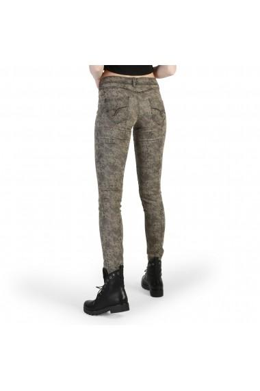 Pantaloni skinny Desigual 49P2603 6009 PITONATO-MARRONE Maro