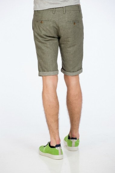 Pantalon scurt din in kaki marca Be You