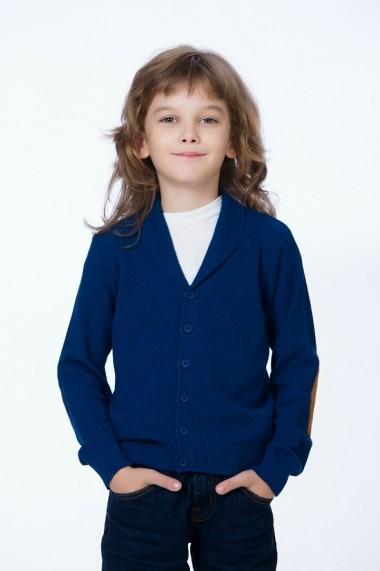 Jacheta pentru baieti Be You bleumarin cu cotiere camel