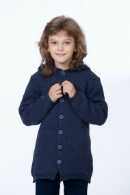 Cardigan pentru baieti Be You tricotat bleumarin cu gluga