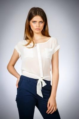 Bluza pentru femei marca Be You alba din voal