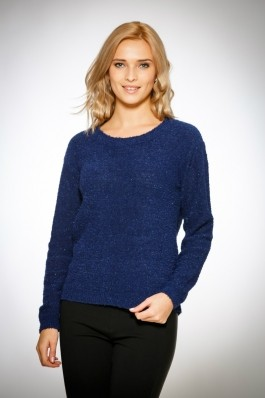 Pulover pentru femei marca Be You 0303 albastru inchis