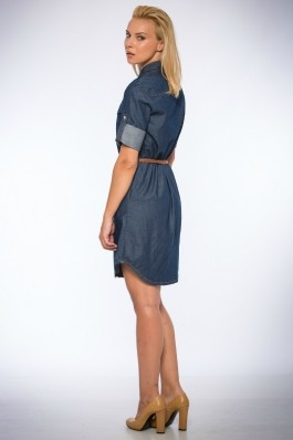 Rochie denim Be You 4000 denim albastra