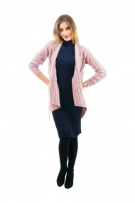 Cardigan Carmen Grigoriu Mohair Simple roz pal
