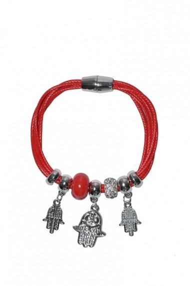Bratara RVL Accesorize rosie cu elemente decorative