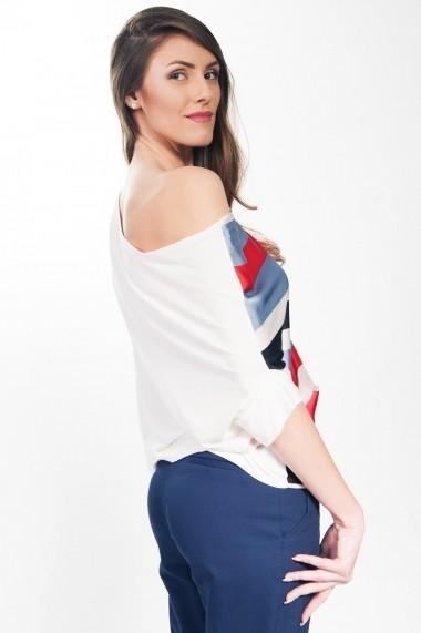 Bluza RVL Fashion dama Your World - rosu/alb