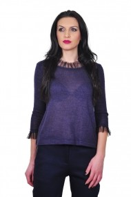 Bluza RVL Fashion mov cu maneca 3/4