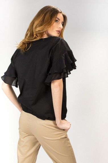 Bluza neagra de dama, RVL rvl_D2705 negru