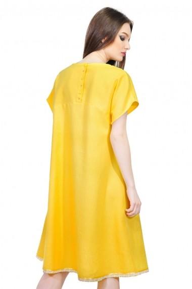 Rochie de zi RVL Fashion de in cu maneca scurta