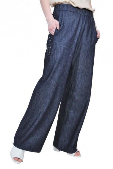 Pantaloni largi, RVL Fashion rvl RD2516-denim