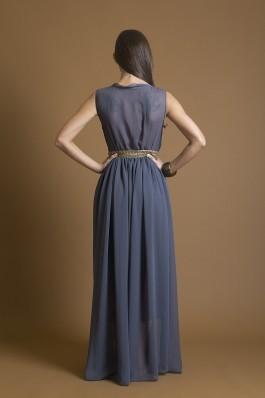 Rochie de seara Nola Fashion cu banda cu aplicatii decorative