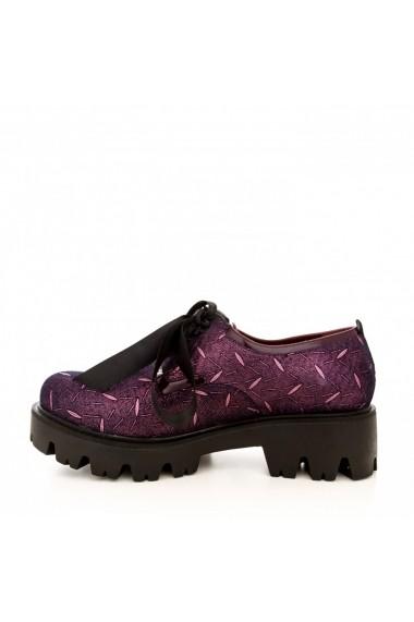 Pantofi CONDUR by alexandru 701 presaj bordo