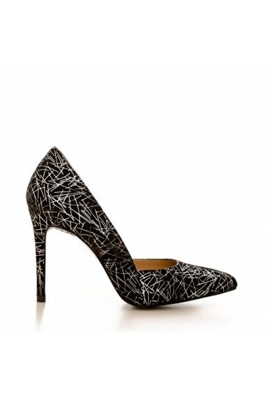 Pantofi cu toc CONDUR by alexandru 1400 lame argento