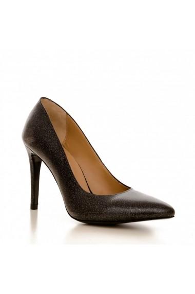Pantofi cu toc CONDUR by alexandru 1422 negru sidef