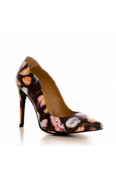 Pantofi cu toc CONDUR by alexandru 1501 pene