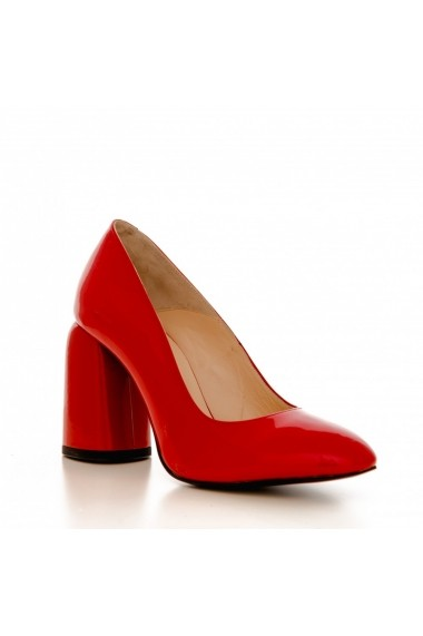Pantofi cu toc CONDUR by alexandru 1810C lac rosu