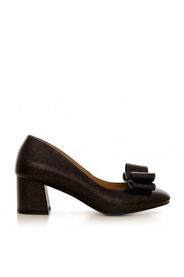Pantofi cu toc CONDUR by alexandru 1606 negru sidef