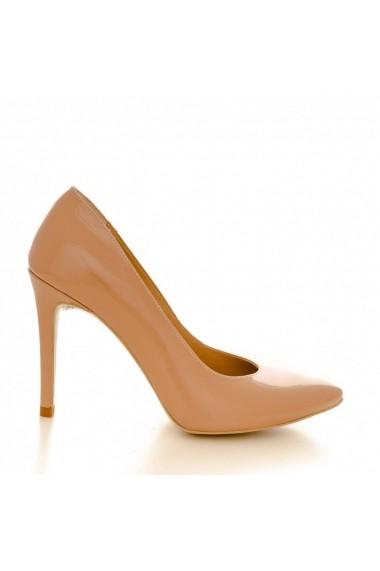Pantofi cu toc CONDUR by alexandru 1422 lac nude