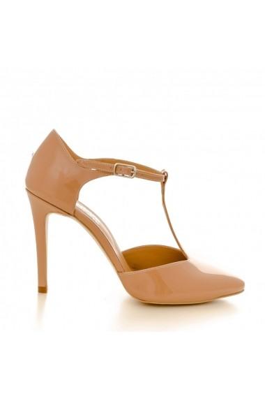 Pantofi cu toc CONDUR by alexandru 1403 lac nude