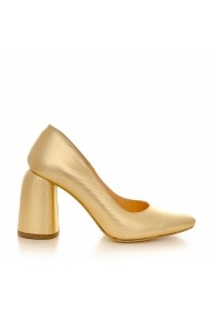 Pantofi cu toc CONDUR by alexandru 1820 auriu striatii