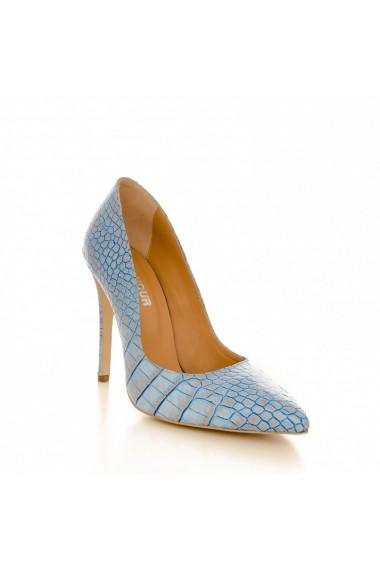 Pantofi cu tocCONDUR by alexandru 1521 croco blue