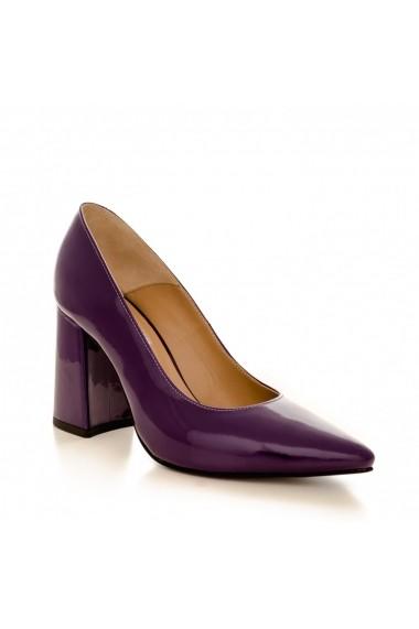 Pantofi cu toc CONDUR by alexandru 1710 lac mov