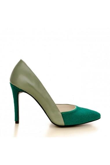 Pantofi cu toc CONDUR by alexandru 1400 verde presaj