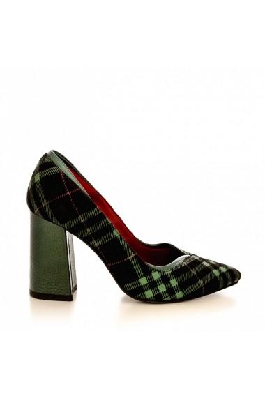 Pantofi cu toc CONDUR by alexandru 1711 kilt verde