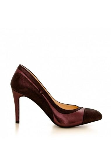 Pantofi cu toc CONDUR by alexandru 1524 bottalato bordo