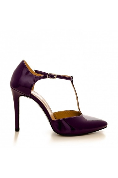 Pantofi cu toc CONDUR by alexandru 1403 lac mov