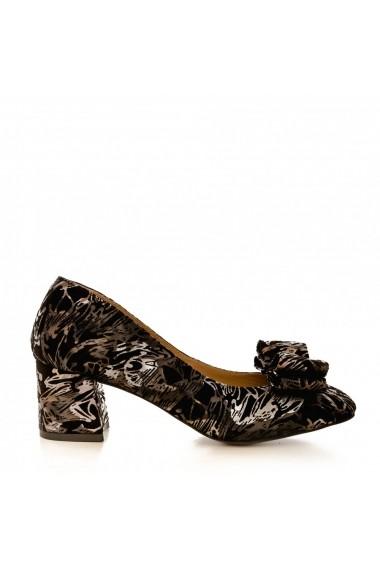 Pantofi cu toc CONDUR by alexandru 1606 print aramiu