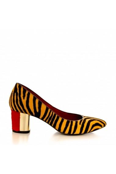 Pantofi cu toc CONDUR by alexandru 1416 ponei zebra
