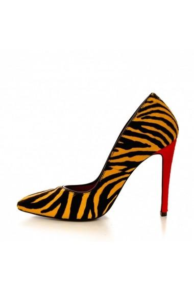 Pantofi cu toc CONDUR by alexandru 1521 ponei zebra
