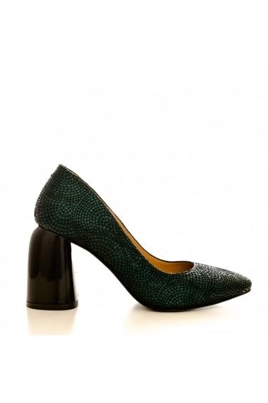Pantofi cu toc CONDUR by alexandru 1820 verde