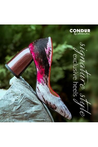 Pantofi cu toc CONDUR by alexandru 1820 fuchsia