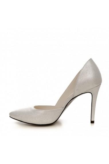 Pantofi cu toc CONDUR by alexandru 1400 argintiu
