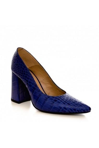 Pantofi cu toc CONDUR by alexandru 1710 blue