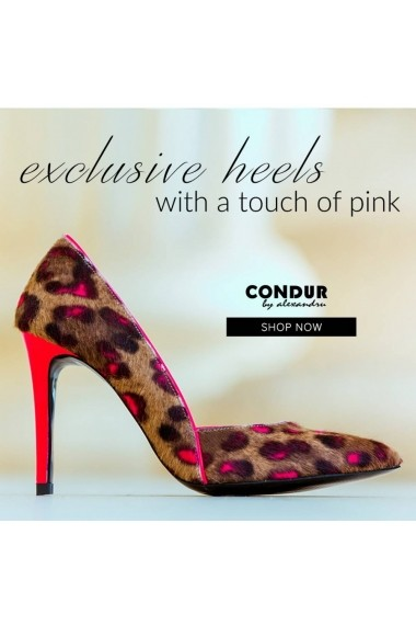 Pantofi cu toc CONDUR by alexandru 1400 maro