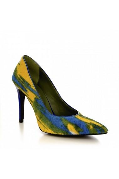 Pantofi cu toc CONDUR by alexandru 1422 multicolor