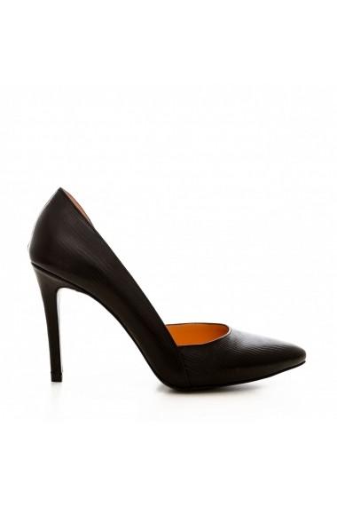 Pantofi cu toc CONDUR by alexandru 1400 negru