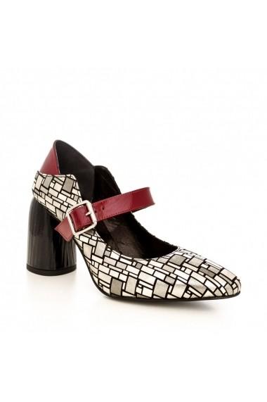 Pantofi cu toc CONDUR by alexandru 1829 gri