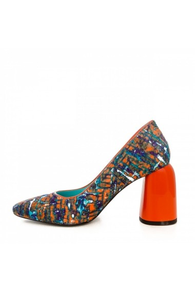 Pantofi cu toc CONDUR by alexandru 1820 multicolor