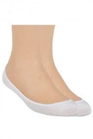Ciorapi Steven pentru balerini, albi