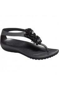 Papuci Crocs Serena Embellish Flip W 205600-060 Negru