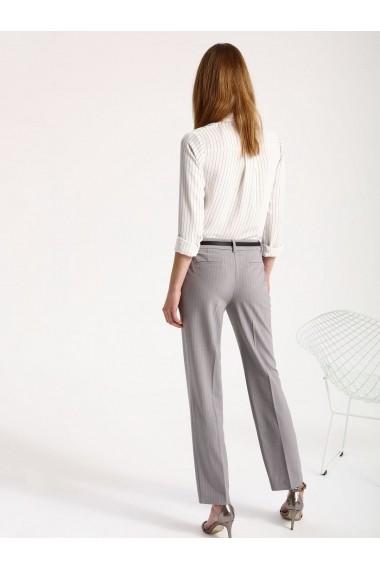 Pantaloni drepti Top Secret SSP2429GB gri deschis