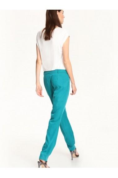 Pantaloni drepti Top Secret SSP2263CZ verde inchis