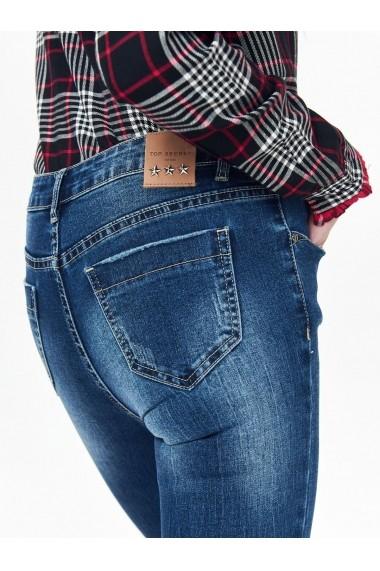 Pantaloni drepti Top Secret TOP-SSP2937NI Albastru