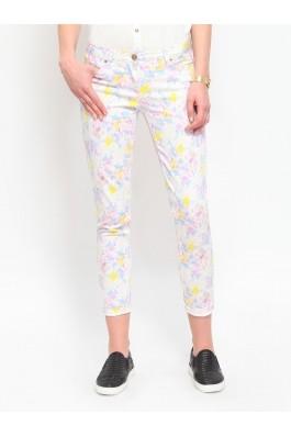 Pantaloni skinny Troll TSP1213BI Alb