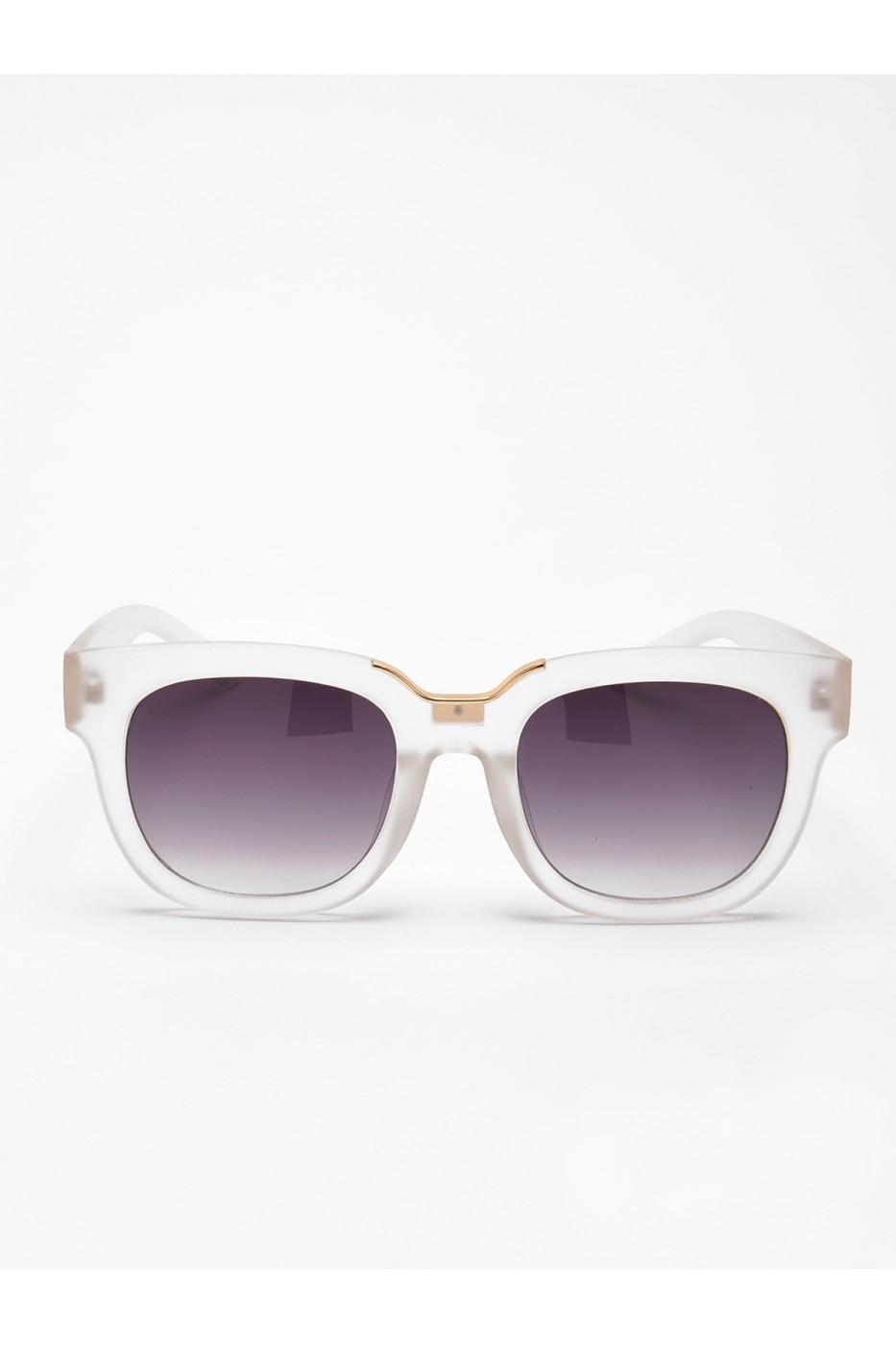 Ochelari de soare Troll cu rame albe alb - FashionUP! 5aae6b0028