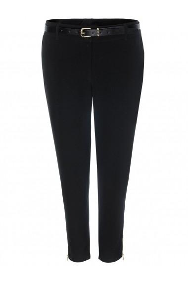Pantaloni drepti Troll TSP1266CA Negru
